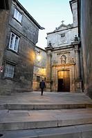 Santiago de Compostela by night Spain.