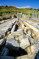 Channel Source of Perge, Old capital of Pamphylia Secunda. Ancient Greece. Asia Minor. Turkey