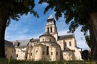 Fontevraud Abbey church 12th, Fontevraud l´Abbaye, Maine et Loire, Loire Valley, France.