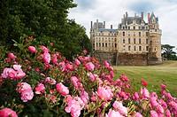 Gardens of Chateau Brissac-Quince, Brissac castle, near Angers, said to be the tallest chateau in France, Maine-et-Loire, Pays de la Loire, France, Eu...