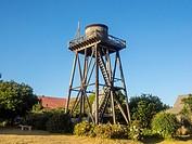 Wooden water tower in Mendocino, California.