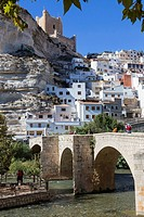 Roman bridge, located in the central part of the town, to its passage by the river Jucar, at the top of mountain limestone is situated castle of Almoh...