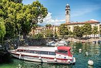 Marina of Pallanza at Lago Maggiore, Piedmont, Italy.
