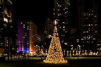 Christmas tree, Downtown Miami, Florida, USA