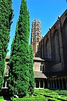 The Gothic Church of the Jacobins, XIIIth century. The cloister and the tower. Toulouse, Haute-Garonne department, Occitanie region, France