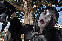 Chatan, Okinawa, Japan: Japanese cosplay at the American Village of Miyama during Halloween
