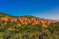 Red sandstone formations, Roxborough State Park, near Littleton, Colorado USA.