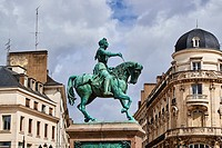 France, Loiret, Orleans, Martoi square and Jeanne d'Arc statue.