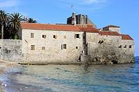 View of the walls of Budva, Montenegro.