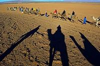 Tourism in the desert near Zagora, South of Morocco.