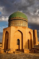 Mausoleum of Rabigha Sultan Begum great granddaughter of Emir Timur at dawn in Turkestan Kazakhstan.