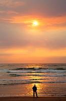 Sunset at Kiwanda Beach, Neskowin Beach State Park, Oregon.