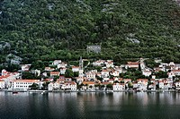 The The coastal town of Prcanj, Montenegro.
