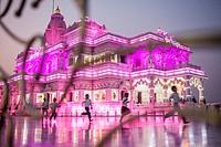 Prem Mandir ( love temple) Temple of Divine Love, Vrindavan, Mathura, Uttar Pradesh, India.