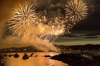 Canada, BC, Vancouver. Fireworks Festival, English Bay.