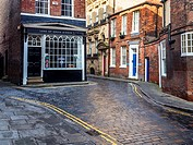 Shop at the Junction of Land of Green Ginger and Manor Street in Hull Yorkshire England.