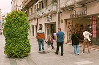 Pedestrian street, Vigo, Pontevedra province, Region of Galicia, Spain, Europe.