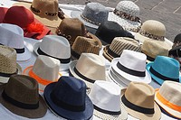 Outdoor Hat Display, Nice, France.