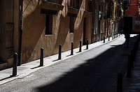 Shadows in the old part of the city, Valencia, Spain