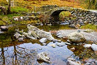 High Sweden Bridge over Scandale beck near Ambleside in the Lake District National Park, Cumbria, England.