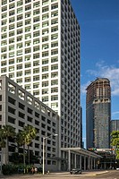 8th Street and Brickell Ave. Buildings. Downtown Miami. Florida. USA.