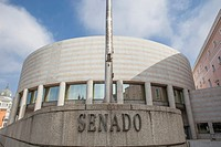 Spanish senate building in Madrid, Spain.