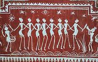 Tribal painting at Koraput ( Odisha state, India).