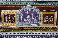 Mural painting at Koraput ( Odisha state, India).