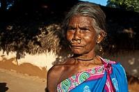 Woman belonging to the Khond tribe ( Odisha state, India).