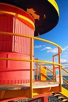 Art Deco Life Guard Tower on South Beach.