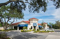Lake Mary Florida downtown shops upscale development called Central Park 5th Street in new shopping center,.