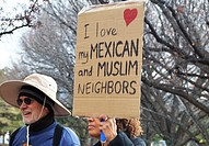 pro-immigrant rally, New Mexico.