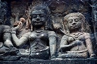 Terrace of the Leper King,Angkor Thom, Cambodia,Indochina,Southeast Asia,Asia.