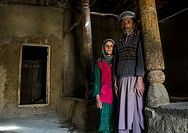 Father and her daughter in their traditional house, Badakhshan province, Zebak, Afghanistan.