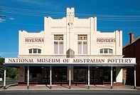 Mackies Building (1910) in Holbrook, New South Wales, Australia, a storefront converted to a small museum of pottery.