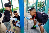 Florida, Miami, Allapatta, Comstock Elementary School, Martin Luther King Jr. Day of Service, MLK, beautification project, Hispanic, boy, child, stude...