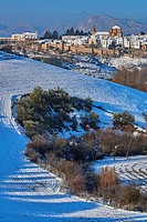Ronda, Old city walls, Winter, Malaga province, Andalusia, Spain.