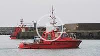 Survey vessel in Ystad harbor