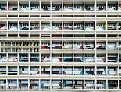 External view of Corbusierhaus modernist apartment building built as Unite d'habitation in Berlin Germany.