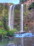 Whangarei Falls, Whangarei, Northland, New Zealand. High Dynamic Range Images.