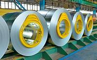 galvanized steel coil in steel plant.