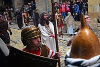 Representation of the Passion of Jesus Christ during Good Friday in Castro Urdiales, Spain.