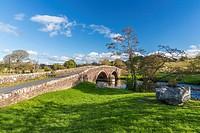 Wath Bridge over River Ehen, Cleator Moor, Lake District National Park, Cumbria, England, United Kingdom, Europe.