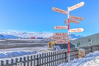 airport in Kangerlussuaq, Artic Circle, Greenland, Europe.