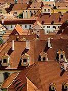 Roofs of Prague. Czech Republic.