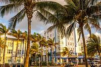 park central Hotel, South Beach, Ocean Drive,Miami, Florida, USA.
