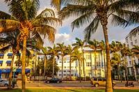 South Beach, Ocean Drive,Miami, Florida, USA.