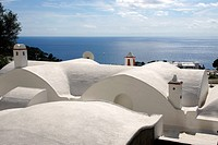 Island of Capri (Italy). Typical roof of the houses in the Island of Capri.