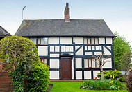 Traditional half timbered English cottage in Cheshire UK