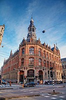 The Magna Plaza on Rozengracht Street, the stop to Dam square, Amsterdam, Netherlands